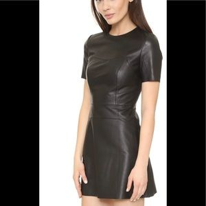 Kendall and Kylie lambskin leather dress